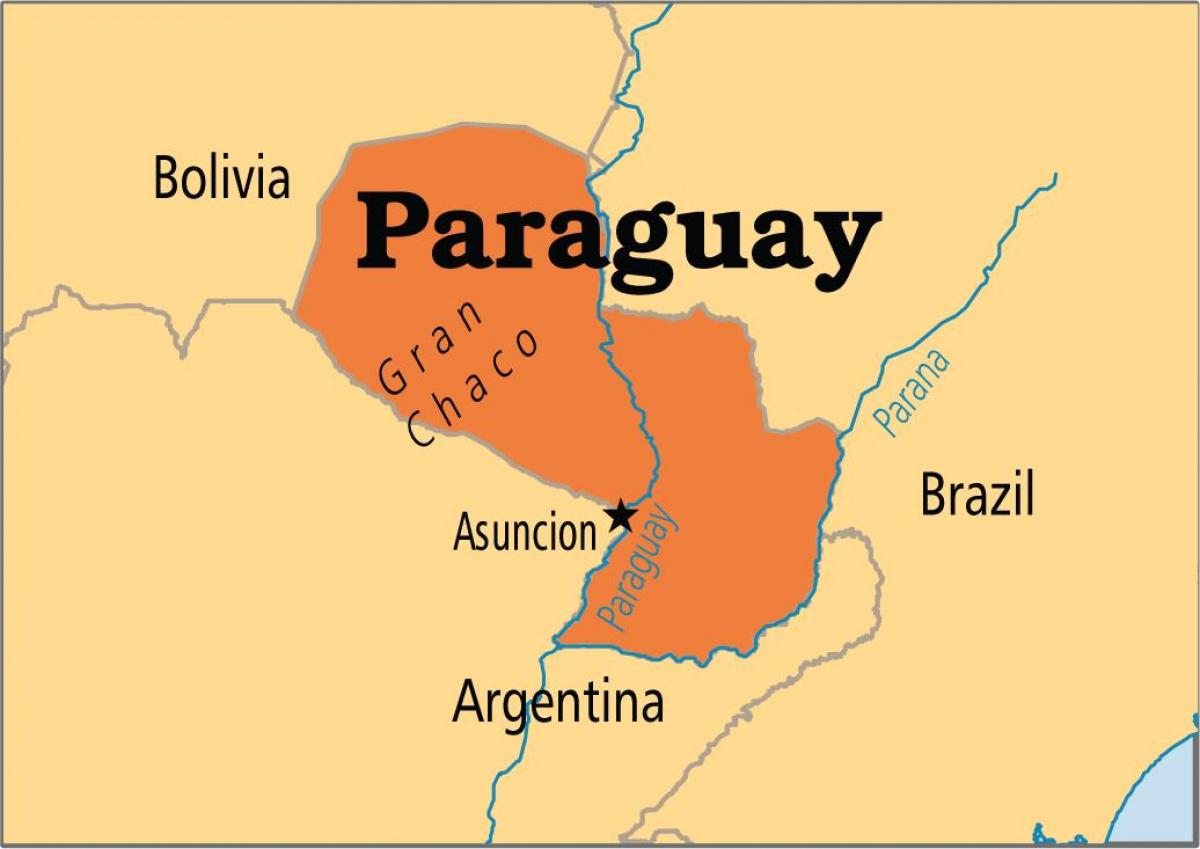 capital do Paraguai mapa